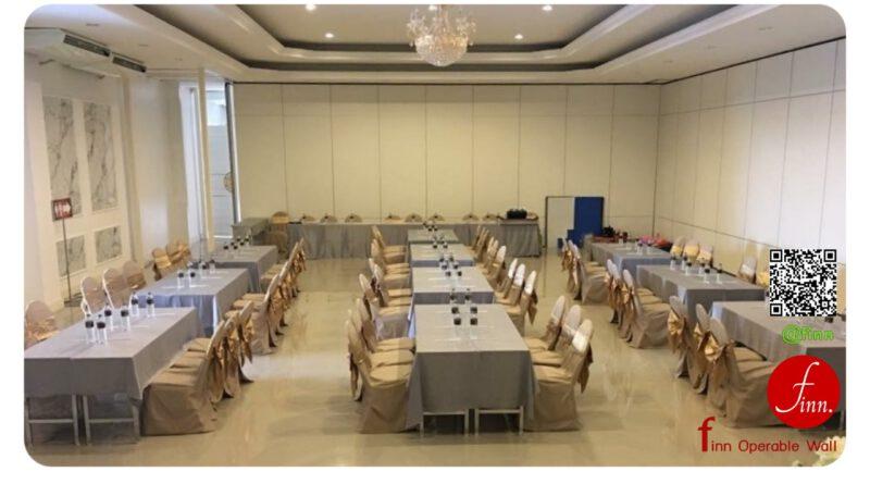 ผนังเลื่อนกั้นห้องกันเสียง Finn Operable Wall สำหรับกั้นห้องประชุม
